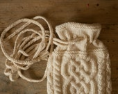 THARA -  Celtic Baglet - Pure wool - off white - other colors made to order - free shipping worldwide