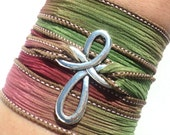 Cross Bracelet, Wrap Bracelet, Fall Jewelry, Autumn Jewelry, Bohemain Bracelet, Fall, Autumn, Christmas, Stocking Stuffer, Yoga Jewellery