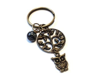 Tree of Life, Keychain, Sale, Owl, Bag Charm, Turquoise, Snowflake, Unique, Stocking Stuffer, Christmas, Party Favor, Gift For Her