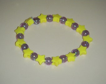 Yellow & Lilac Star Bracelet