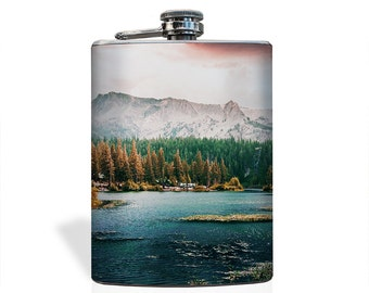 Mountain Lake Flask - Stainless Steel 8oz Flask