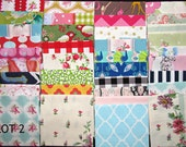 Fabric destash scraps for crafting quilting applique doll clothes 1 pound LOT 2