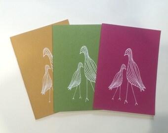 Notebook A4 /serigraphie birds