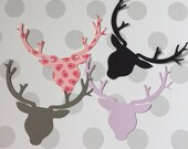 Deer Head with Antlers Party Table Confetti - 12 pieces