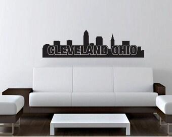 Cleveland Decal Etsy - Custom vinyl decals cleveland ohio