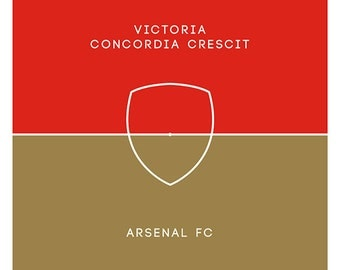 Arsenal FC -  - Pitch Perfect Poster - Red & Gold - Victoria Concordia Crescit (Various sizes available)