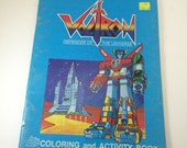Voltron defender of the universe coloring book activity book 1980s robot transformer japanese
