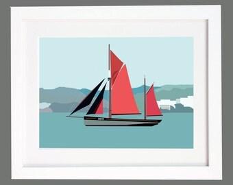 Brixham Trawler Devon Fishing Boat Print