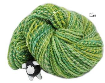 Handspun Yarn - Eire - Superwash merino/twinkle 4.1oz/118g/115 yards Worsted Weight 2 ply