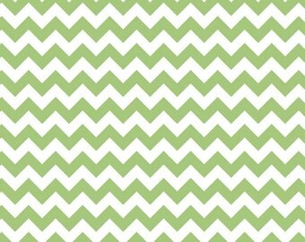 Small Chevron in Green by Riley Blake