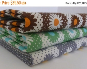 CLEARANCE Wide Floral Stripe  from Yuwa of Japan Half Yard Bundle