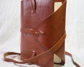 6x8 inch journal or sketchbook - handbound leather