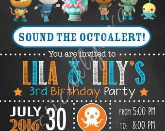 Octonauts Inspired Birthday Invitation