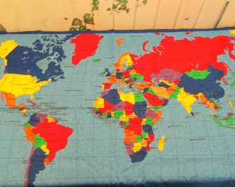Word Map Cotton Panel 33x57