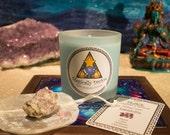 Peace- Reiki Healing Candle & Crystal