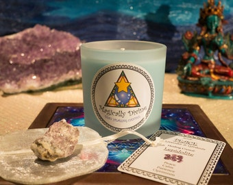 Peace- Reiki Healing Candle & Crystal