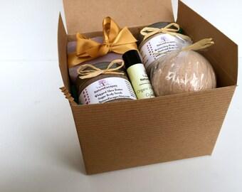Spa Gift Set, March Birthday Gift, New Mom Bath Set, Teacher Gift Set, Soap Gift Set with Soap, Lotion, Body Scrub, Bath Bomb and Lip Balm