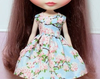 BLYTHE doll Its my party dress - cherry blossoms