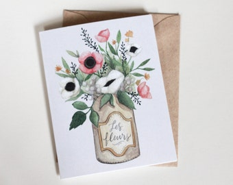 Les Fleurs - greeting card