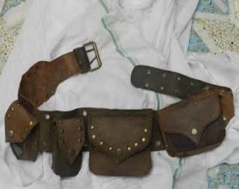 Geniune leather hip belt