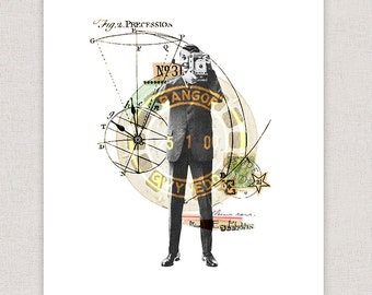 Camera Man - Illustration Collage Poster Art Print