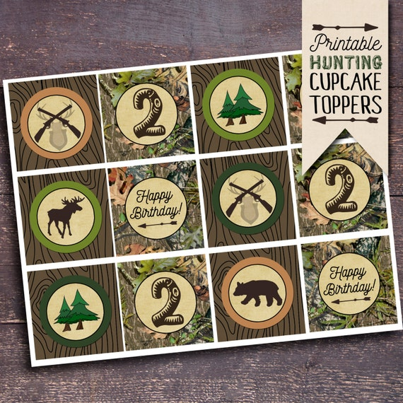 Printable Hunting Cupcake Toppers Hunting Theme Party