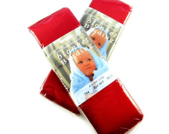 Blanket Binding,  2 Red, New, Destash, Lot of 2 Packages, Wright's Satin