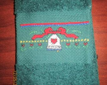 Christmas Bell Fingertip Towel