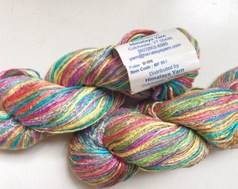 50% Off Mulberry Silk Worsted Yarn 100 g 225 Yards Himalayan Rainbow
