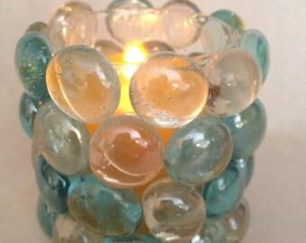 Votive Candle Holder-Blue