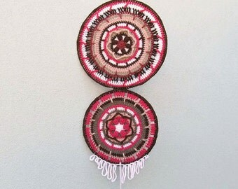 Dreamcatcher Mandala, Mandala Wall Hanging, Tribal Decor, Hippie Home Decor, Boho Home Decor, Crochet Wall Art, Crochet Mandala Wall Art