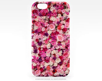 iPhone 6S Case iPhone 6S Plus Case Pink Roses iPhone 5s Case Floral iPhone 6 Case Romantic iPhone Case Pink Flowers iPhone 6s Case T1d