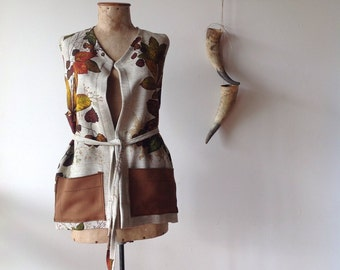 Women's Autumnal Leaves Winter Vest.Free size.