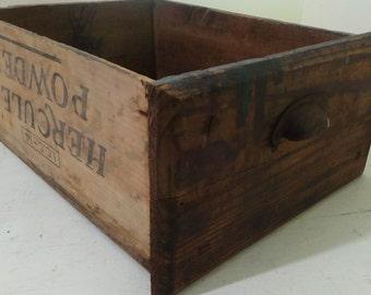 D2 Vintage Handmade Workbench Drawer Wood Shipping Crate Hercules Organization Storage Rustic Primitive