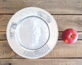 Vintage Forged Aluminum Silver Harvest Fruit Plate