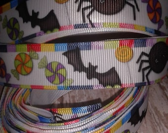 Spiders and Bats Grosgrain Ribbon