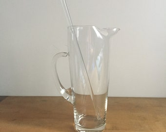 vintage martini pitcher with stirrer