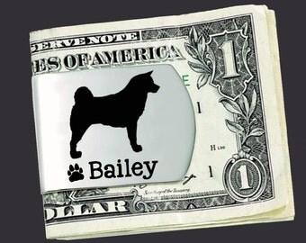 Akita Money Clip   Akita   Custom Money Clip   Dog Lovers Gift   Fathers Day   Gift for Men   Money Clip   Korena Loves