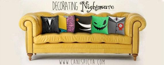 nightmare before christmas jack skellington pillow by