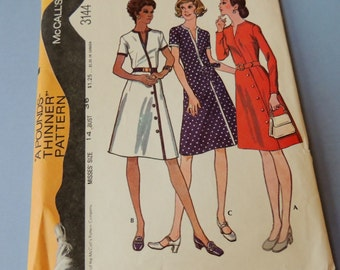 sz 14 Mccalls 3144 Dress Pattern Uncut