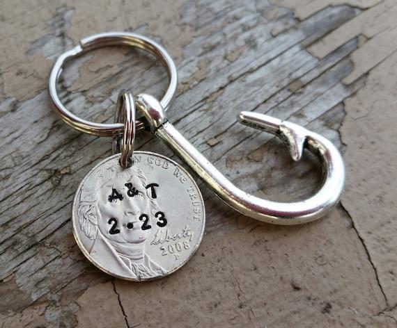 5 Years Wedding Anniversary Gift: Items Similar To Personalized 5 Year Anniversary Keychain