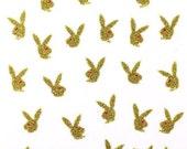 Glitter Playboy Bunny Designer Scrapbooking Stickers/ Nail Decals