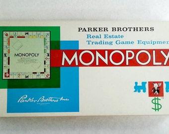 1961 Monopoly Vintage Board Game