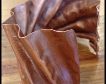 Organic Hammered Copper Cuff