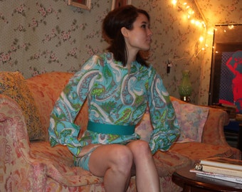 Psychedelic Vintage Tunic Dress