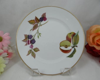 Vintage Royal Worcester Evesham Gold Bread and Butter Plates - 5 Available