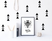 Triangle wall decals, triangle decal, triangle wall sticker, nursery wall decal, wall decals, wall stickers, vinyl wall decal stickers  x40