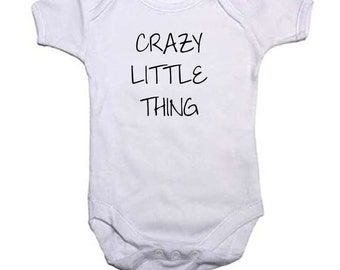 Crazy Little Thing 100% Cotton Baby Vest 0-3, 3-6, 6-9, 9-12, 12-18