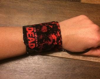 Crossfit Wrist Wraps-Compression Wrist Wraps-Zombie Print Wraps With Velcro and Elastic Thumb Loops-Workout Wrist Wraps
