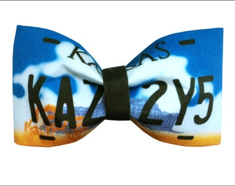 Impala License Plate Inspired Supernatural Hair Bow or Bow Tie Geeky Fabric Bow